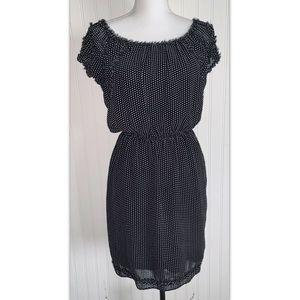 Max Studio Sz Medium M Dress Black White Polka Dot
